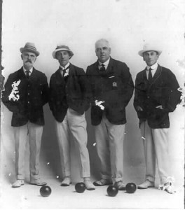 Four gentleman bowlers - can you assist with names?